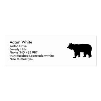 Oso negro plantillas de tarjetas personales
