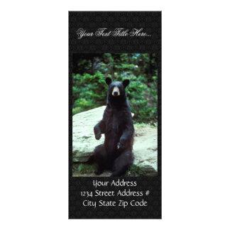 Oso negro diseño de tarjeta publicitaria