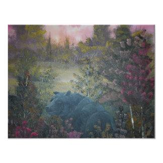 oso negro viejo invitación 10,8 x 13,9 cm