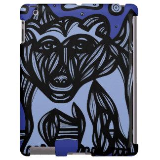 Oso, oso polar azul marino funda para iPad
