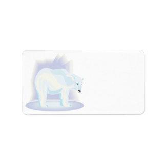 Oso polar 2 etiquetas de dirección