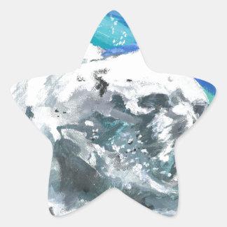 oso polar 2 pegatina en forma de estrella