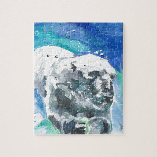 oso polar 2 rompecabezas con fotos