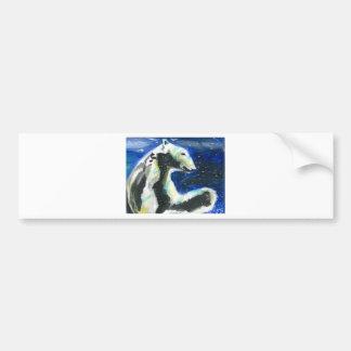 Oso polar 3 etiqueta de parachoque