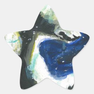Oso polar 3 pegatina en forma de estrella