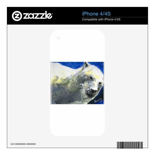 oso polar 4 calcomanías para iPhone 4