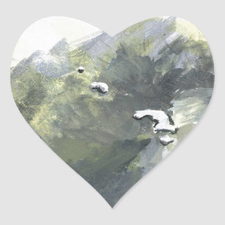 oso polar 4 pegatina en forma de corazón