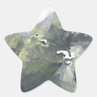 oso polar 4 pegatina en forma de estrella