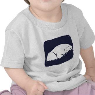 Oso polar - ahorre la tierra camisetas