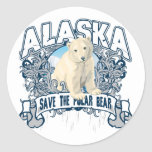 Oso polar Alaska Pegatinas Redondas