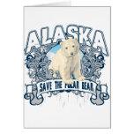 Oso polar Alaska Tarjetón