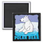 Oso polar amistoso del niño imán de frigorifico