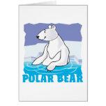 Oso polar amistoso del niño tarjeta