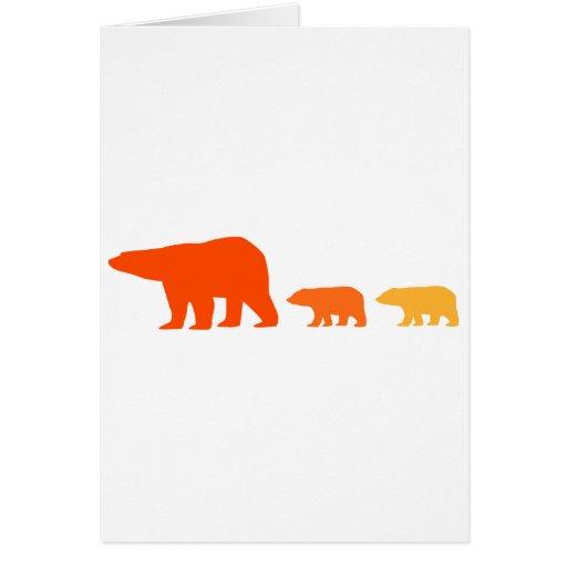 Oso polar anaranjado tarjeta de felicitación