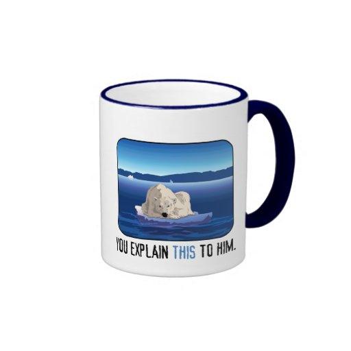 Oso polar ártico taza de café
