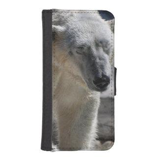 Oso polar blanco lindo cartera para teléfono
