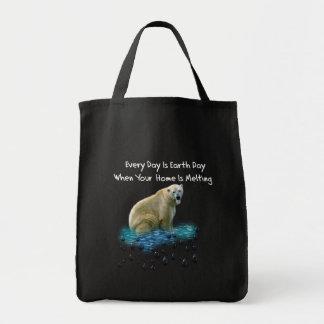 Oso polar bolsa tela para la compra