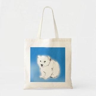 Oso polar bolsas lienzo