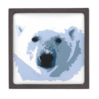 Oso polar caja de recuerdo de calidad