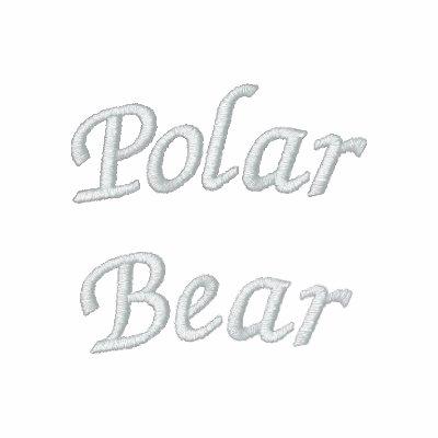 Oso polar sudadera bordada con capucha