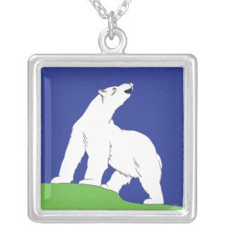 Oso polar colgante cuadrado
