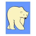 Oso polar - color crema postales