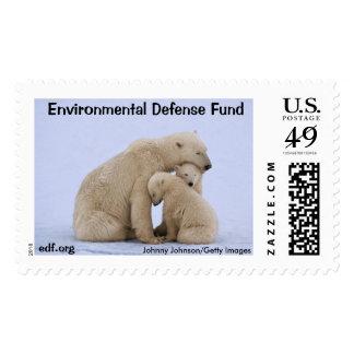 Oso polar con el franqueo de Cubs Sello