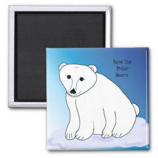 Oso polar con el mensaje imanes de nevera