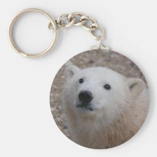 Oso polar Cub Llavero Redondo Tipo Pin