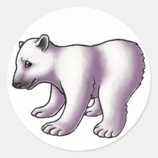 Oso polar Cub Etiquetas Redondas
