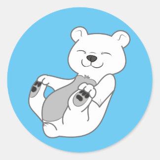 Oso polar Cub Pegatina Redonda