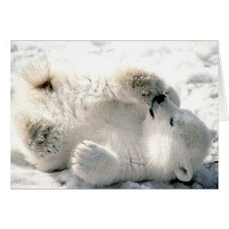 Oso polar Cub Tarjeta De Felicitación