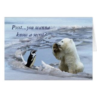 Oso polar Cub y tarjeta de los mejores amigos del