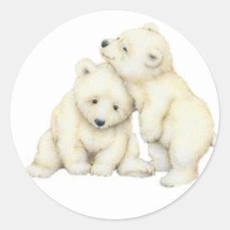 Oso polar Cubs Etiquetas Redondas
