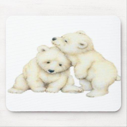 Oso polar Cubs Tapete De Raton