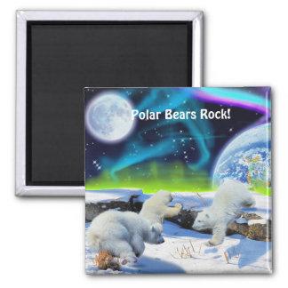Oso polar Cubs y imán del arte de la fauna de la a