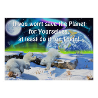 Oso polar Cubs y poster de la fantasía del Día de
