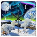 Oso polar Cubs y reloj de Día de la Tierra de la a
