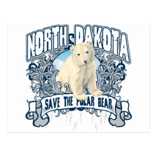 Oso polar Dakota del Norte Postal