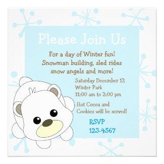 Oso polar de Cutie Invitación Personalizada