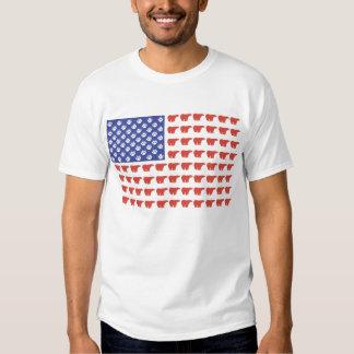 Oso polar de la bandera americana camisas