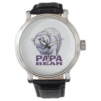 Oso polar de la papá reloj de mano