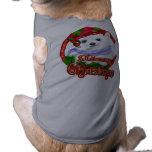 Oso polar de las Felices Navidad Camisa De Perrito