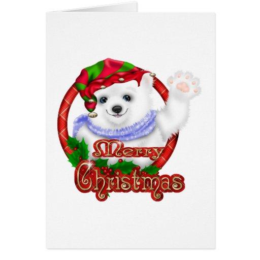 Oso polar de las Felices Navidad Felicitacion
