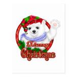 Oso polar de las Felices Navidad Postal
