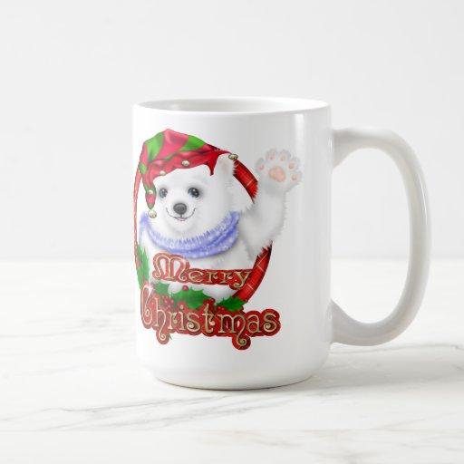 Oso polar de las Felices Navidad Tazas