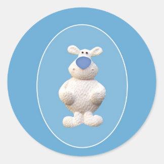 Oso polar de Navidad Pegatina Redonda