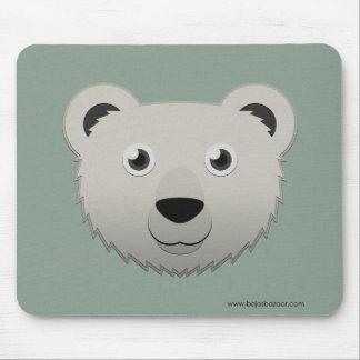 Oso polar de papel alfombrilla de ratones