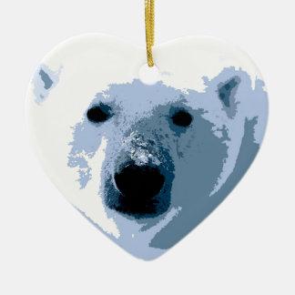 Oso polar ornamento de navidad