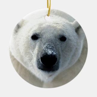 Oso polar ornamento para arbol de navidad